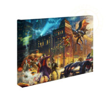"The Dark Knight Saves Gotham City 10"" x 14"" Gallery Wrapped Canvas"