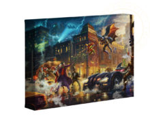 "The Dark Knight Saves Gotham City 16"" x 24"" Premier Wrap Edition Limited Edition Canvas"
