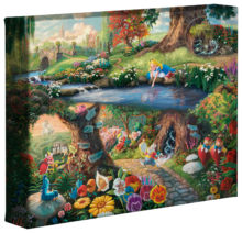 """Alice in Wonderland - 8"""" x 10"""" Gallery Wrapped Canvas"""
