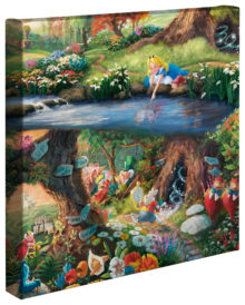 """Alice in Wonderland - 14"""" x 14"""" Gallery Wrapped Canvas"""