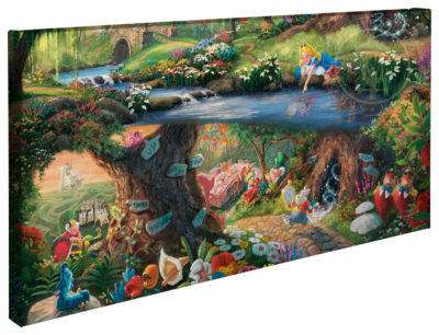 "Alice in Wonderland - 16"" x 31"" Gallery Wrapped Canvas"