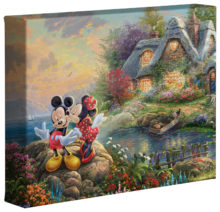 "Mickey & Minnie Sweetheart Cove - 8"" x 10"" Gallery Wrapped Canvas"