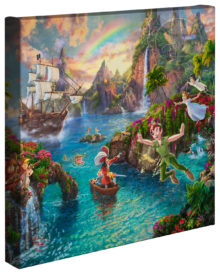 "Peter Pan's Never Land - 14"" x 14"" Gallery Wrapped Canvas"