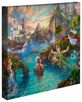 """Peter Pan's Never Land - 14"""" x 14"""" Gallery Wrapped Canvas"""
