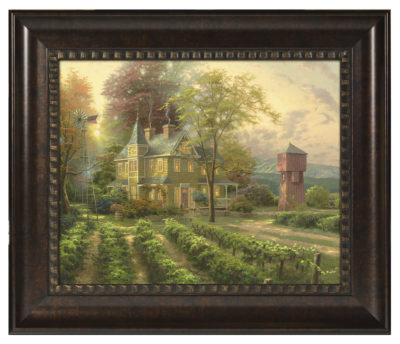 """Abundant Harvest - 16"""" x 20"""" Brushstroke Vignette (Rich Burl Frame)"""