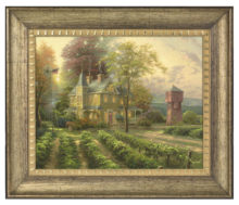 "Abundant Harvest - 16"" x 20"" Brushstroke Vignette (Burnished Gold Frame)"