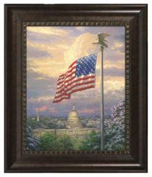 """America's Pride - 16"""" x 20"""" Brushstroke Vignette (Rich Burl Frame)"""