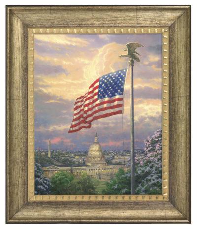 """Americas Pride - 16"""" x 20"""" Brushstroke Vignette (Burnished Gold Frame)"""