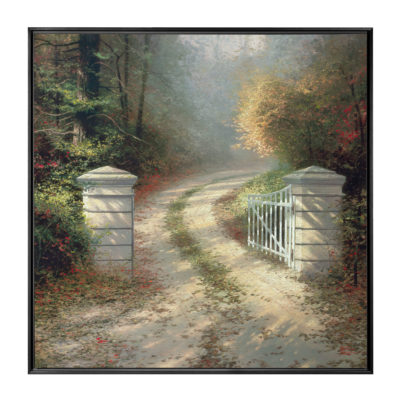 "Autumn Gate, The - 36"" x 36"" Framed Canvas Wall Murals"