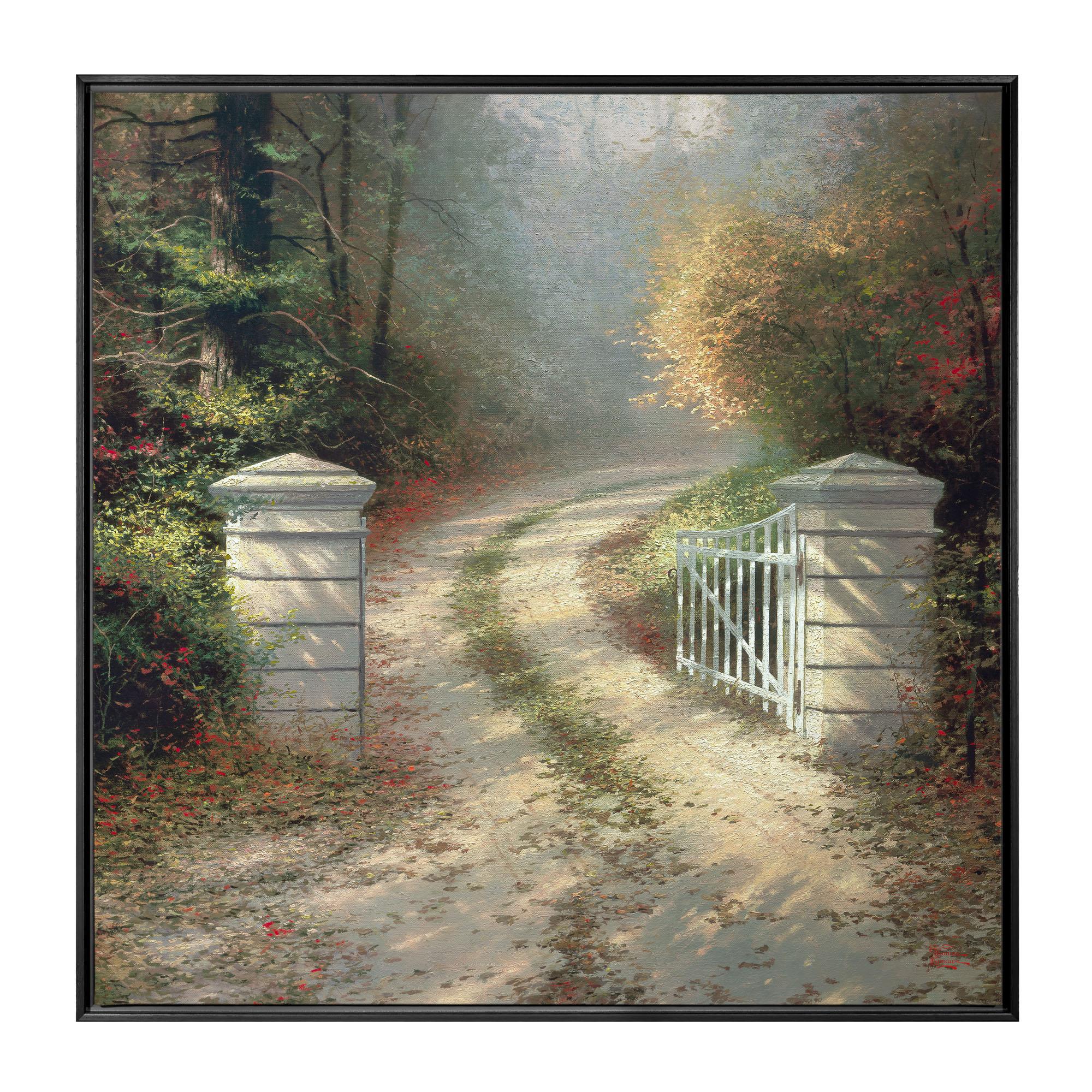 Autumn Gate The 36 x 36 Framed Canvas Wall Murals Thomas
