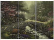 "Bridge of Faith - 36"" x 16"" (Set of 3 Panels) Triptych Giclee Canvas (Set of Three)"