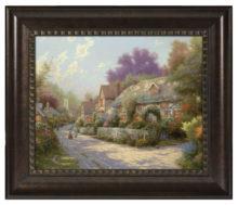"Cobblestone Village - 16"" x 20"" Brushstroke Vignette (Rich Burl Frame)"