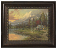"Evening Majesty - 16"" x 20"" Brushstroke Vignette (Rich Burl Frame)"