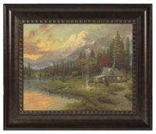 "Evening Majesty - 16"" x 20"" Brushstroke Vignette (Rich Burl Frame)"
