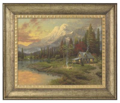"""Evening Majesty - 16"""" x 20"""" Brushstroke Vignette (Burnished Gold Frame)"""