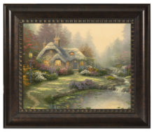 "Everett's Cottage - 16"" x 20"" Brushstroke Vignette (Rich Burl Frame)"