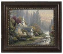 """Forest Chapel - 16"""" x 20"""" Brushstroke Vignette (Rich Burl Frame)"""