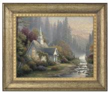 """Forest Chapel - 16"""" x 20"""" Brushstroke Vignette (Burnished Gold Frame)"""