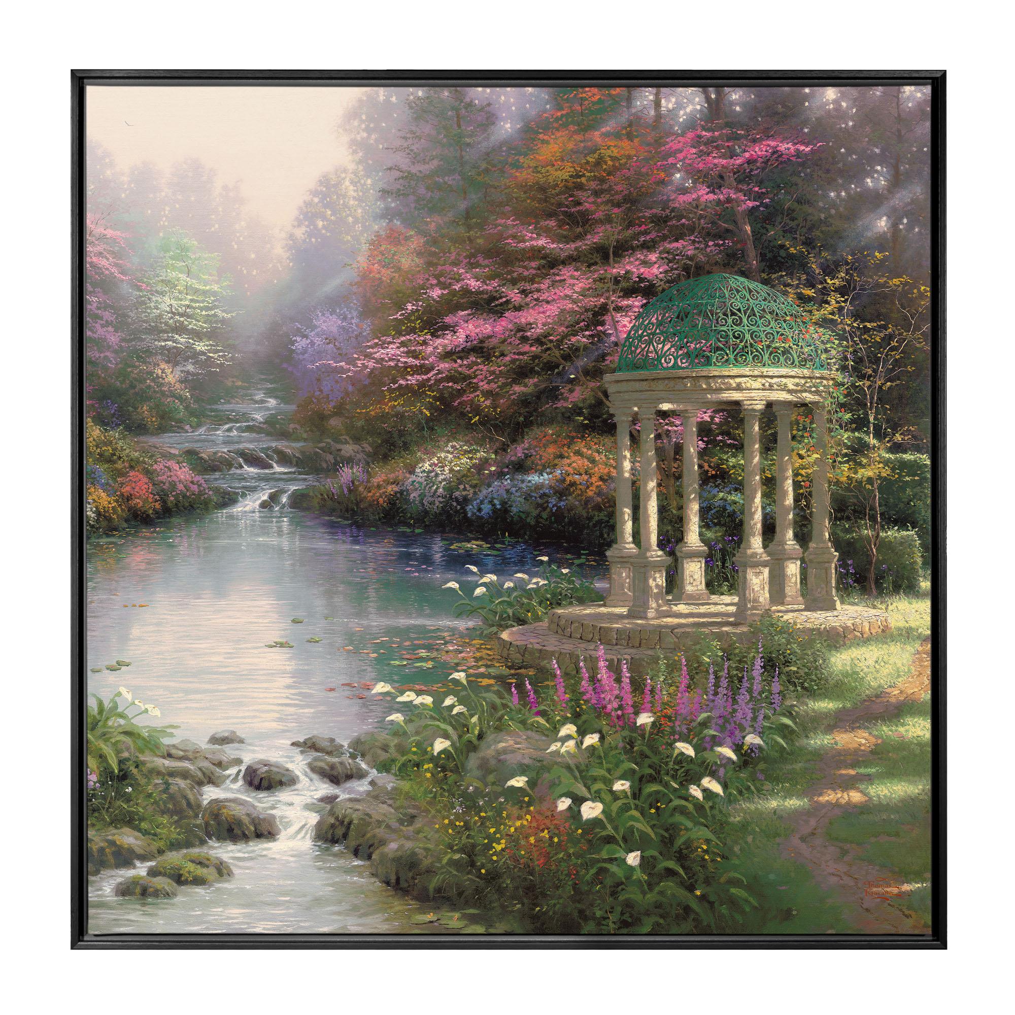 Garden of Prayer The 36 x 36 Framed Canvas Wall Murals Thomas