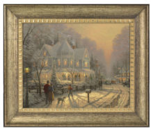 "Holiday Gathering - 16"" x 20"" Brushstroke Vignette (Burnished Gold Frame)"