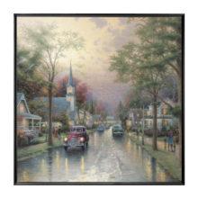 """Hometown Morning - 36"""" x 36"""" Framed Canvas Wall Murals"""