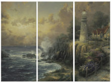 "Light of Peace, The - 36"" x 16"" (Set of 3 Panels) Triptych Giclee Canvas (Set of Three)"