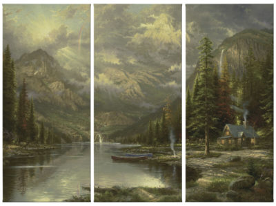 "Mountain Majesty - 36"" x 16"" (Set of 3 Panels) Triptych Giclee Canvas (Set of Three)"