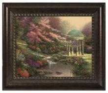 "Pools of Serenity - 16"" x 20"" Brushstroke Vignette (Rich Burl Frame)"
