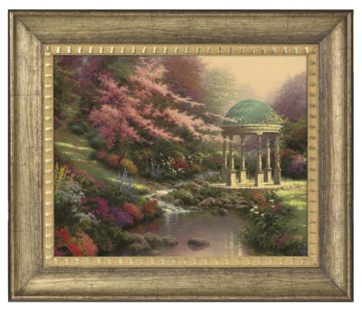 """Pools of Serenity - 16"""" x 20"""" Brushstroke Vignette (Burnished Gold Frame)"""