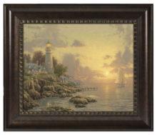 "Sea of Tranquility, The - 16"" x 20"" Brushstroke Vignette (Rich Burl Frame)"