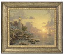 "Sea of Tranquility, The - 16"" x 20"" Brushstroke Vignette (Burnished Gold Frame)"