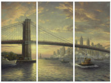 "Sprit of New York, The - 36"" x 16"" (Set of 3 Panels) Triptych Giclee Canvas (Set of Three)"