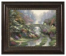 """Stillwater Bridge - 16"""" x 20"""" Brushstroke Vignette (Rich Burl Frame)"""
