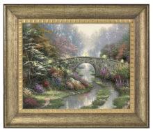 "Stillwater Bridge - 16"" x 20"" Brushstroke Vignette (Burnished Gold Frame)"