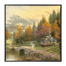 "Valley of Peace, The - 36"" x 36"" Framed Canvas Wall Murals"