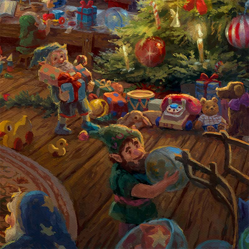 Santa S Workshop Limited Edition Art Thomas Kinkade