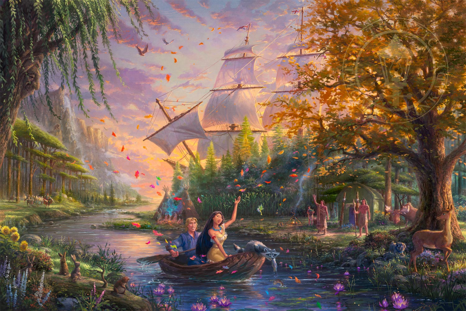 Pocahontas Limited Edition Art Thomas Kinkade