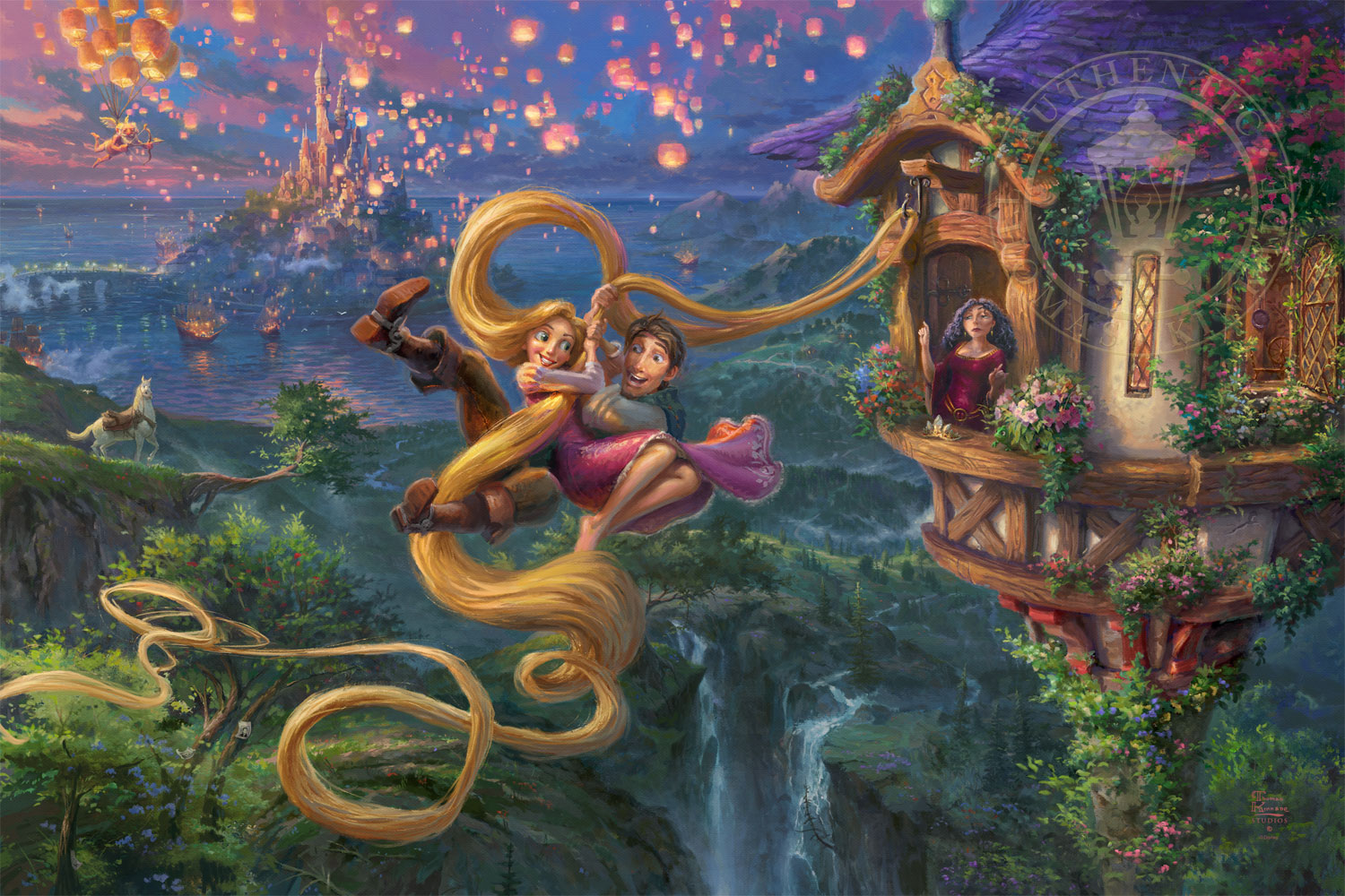Tangled Up In Love Limited Edition Art Thomas Kinkade Galleries Of New York New Jersey Connecticut