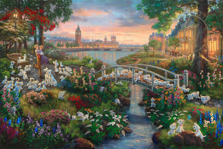 Thomas Kinkade Disney/'s The Princess and the Frog Prestige Home Collection