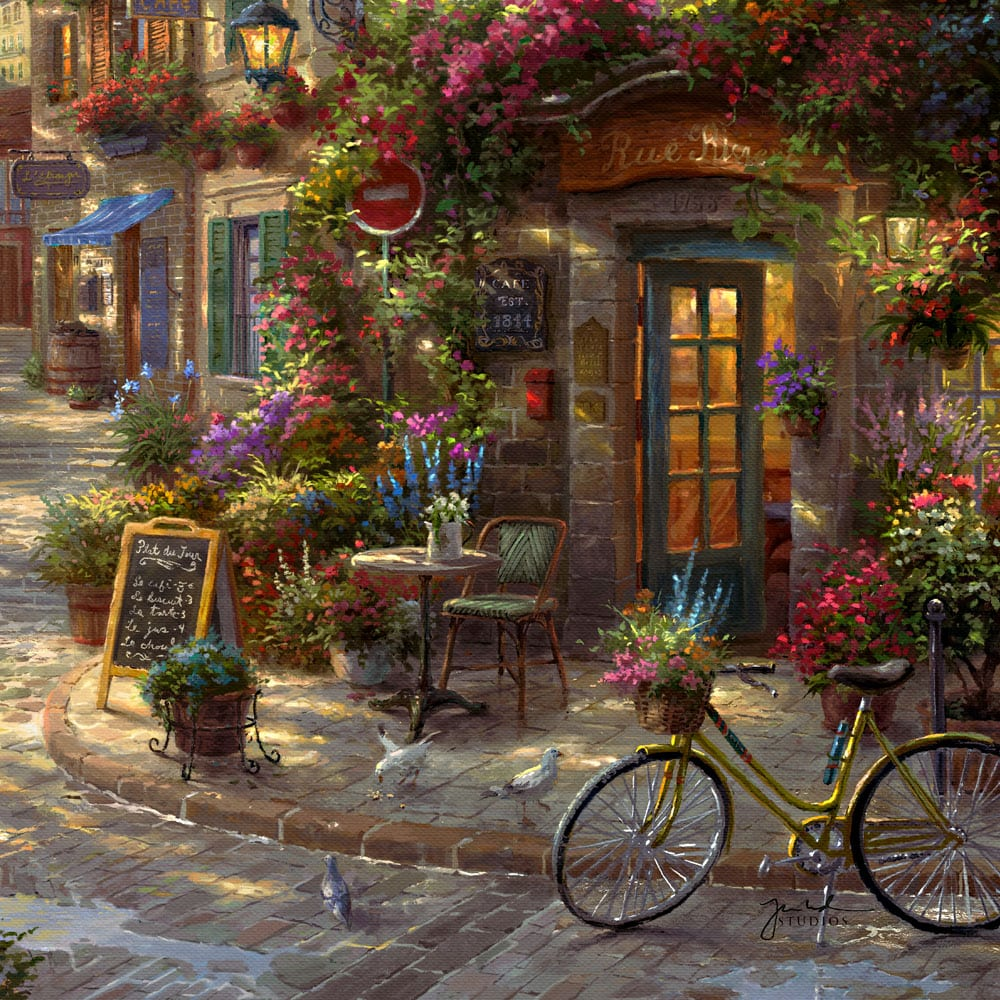 How To Frame A Jersey >> French Riviera Café - Limited Edition Art - Thomas Kinkade ...