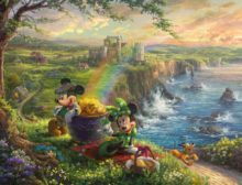 Mickey and Minnie in Ireland - Limited Edition Art