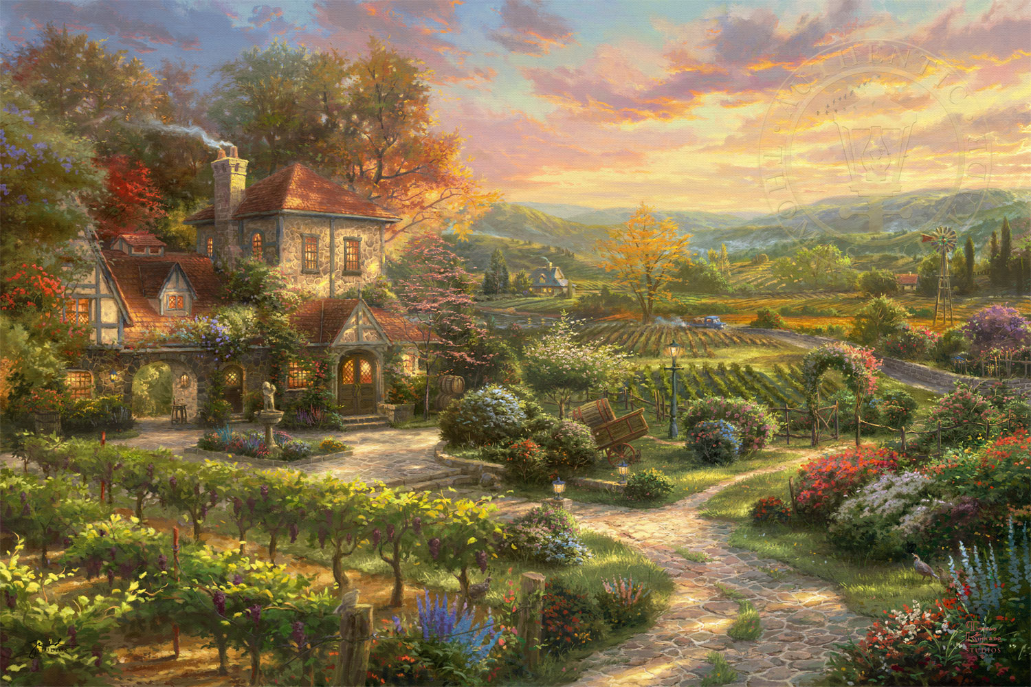 9940f4e2b76 Wine Country Living - Limited Edition Art - Thomas Kinkade Galleries ...