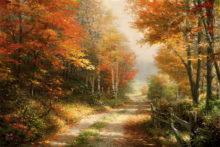 A Walk Down Autumn Lane - Limited Edition Art