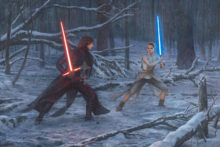 The Duel: Rey vs. Ren - Limited Edition Canvas